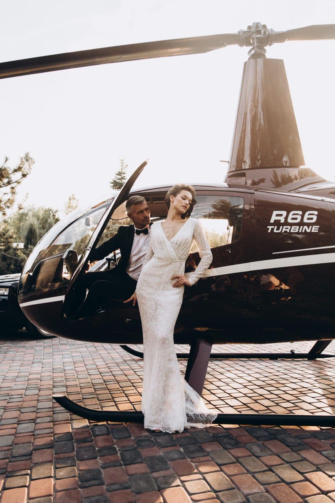 Свадебный полет на вертолете в Киеве